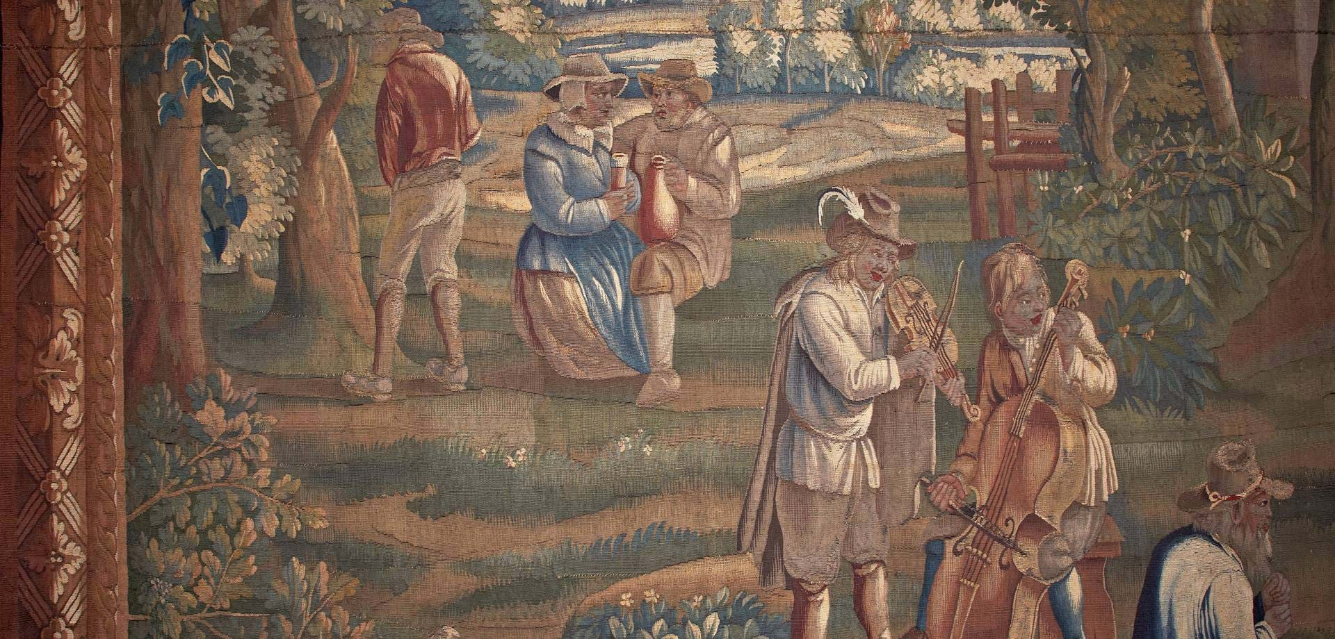 Flemish country scene tapestries