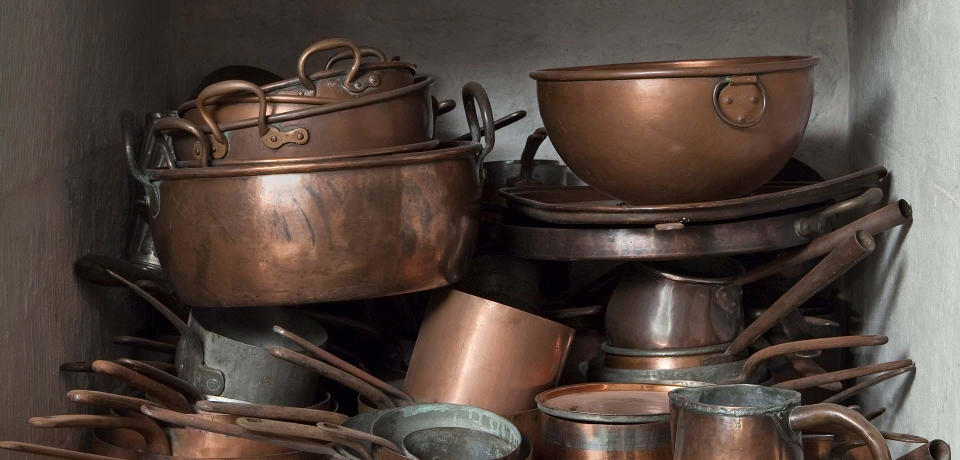 Copper cooking equipment and utensils