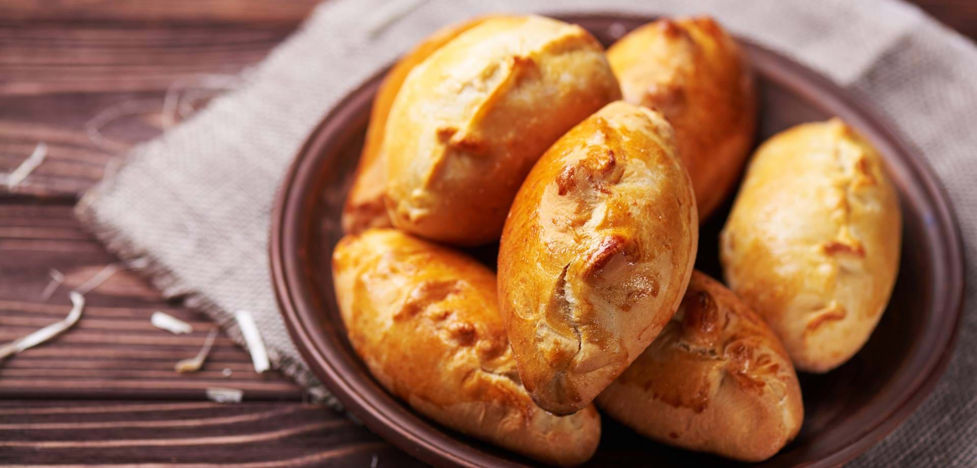 New potato and cheese parcels