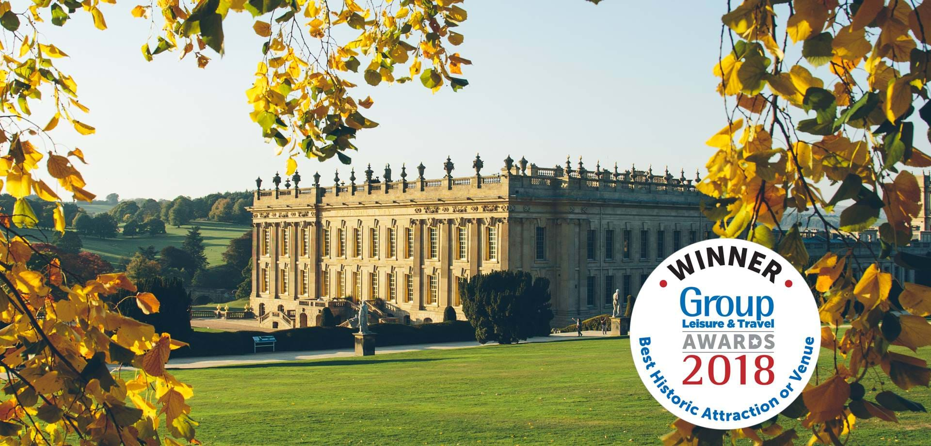 Chatsworth named 'Best Historic Attraction' at 2018 Group Leisure & Travel Awards