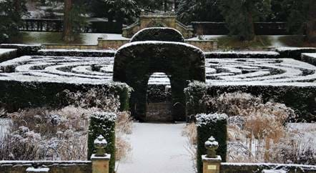 In the Chatsworth Garden: Winter